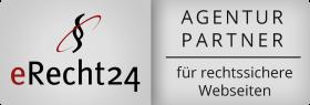 Quer Siegel Agenturpartner eRecht24 grau